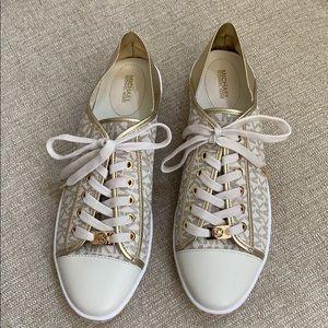 Michael Kors Kristy Sneaker Gold Size 10 NWOT